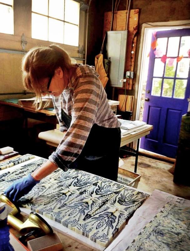 Martie Negri in her studio